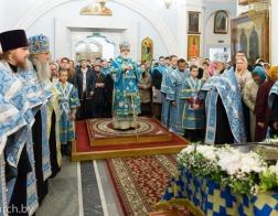 В канун праздника Покрова Пресвятой Богородицы Патриарший Экзарх совершил всенощное бдение в Свято-Духовом кафедральном соборе города Минска
