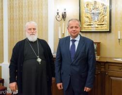 Состоялась встреча Патриаршего Экзарха всея Беларуси и Министра культуры Республики Беларусь