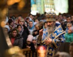 В праздник Покрова Пресвятой Богородицы Предстоятель Украинской Православной Церкви совершил Литургию в Покровском монастыре Киева