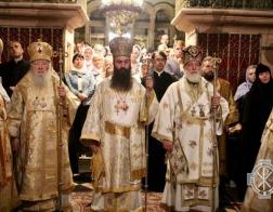 Патриарший Экзарх всея Беларуси принял участие в служении Божественной литургии на Гробе Господнем