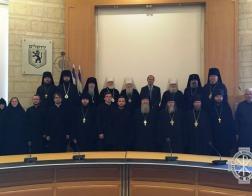 Митрополит Минский и Заславский Павел принял участие во встрече делегации Русской Православной Церкви с мэром Иерусалима