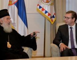Президент Республики Сербия Александр Вучич встретился с Патриархом Сербским Иринеем