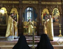 Патриарший Экзарх всея Беларуси возглавил богослужения в Троицком соборе Русской духовной миссии в Иерусалиме