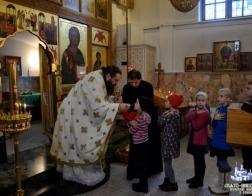 Детская Литургия была совершена в Никольском монастыре Гомеля