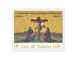 Ватикан выпустил почтовую марку, посвященную 500-летию Реформации, с изображением Лютера и Меланхтона