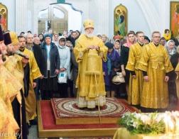 В канун Недели 22-й по Пятидесятнице митрополит Павел совершил всенощное бдение в Свято-Духовом кафедральном соборе города Минска