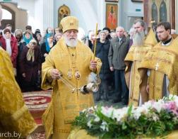 В Неделю 22-ю по Пятидесятнице Патриарший Экзарх совершил Литургию в Свято-Духовом кафедральном соборе города Минска