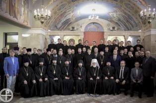 Патриарший Экзарх возглавил торжества по случаю актового дня Минской духовной академии