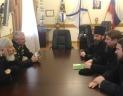 Председатель Синодального отдела по взаимодействию с Вооруженными силами встретился с командующим Черноморским флотом РФ