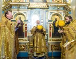 В день памяти благоверного князя Александра Невского митрополит Павел совершил Литургию в Александро-Невском храме города Минска