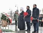 Представители Русской Православной Церкви приняли участие в возложении цветов к могиле Неизвестного солдата