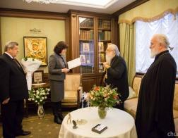 Глава государства поздравил митрополита Филарета с днем Ангела
