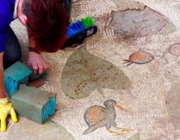 В недавно обнаруженной в Израиле церкви 4-го века открыты отлично сохранившиеся мозаичные полы
