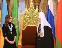 Святейший Патриарх Кирилл наградил вице-президента Азербайджанской Республики Мехрибан Алиеву орденом святой равноапостольной княгини Ольги II степени