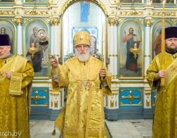 В канун Недели святых праотец митрополит Павел совершил всенощное бдение в Свято-Духовом кафедральном соборе города Минска
