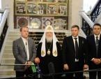 Состоялась встреча Святейшего Патриарха Кирилла с А.В. Захарченко, Л.И. Пасечником и В.И. Медведчуком