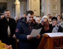 В первый день нового года в Покровском соборе города Гродно пять человек приняли обет трезвости
