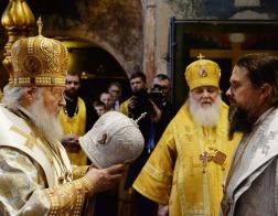 В праздник Собора Пресвятой Богородицы Святейший Патриарх Кирилл совершил Литургию в Успенском соборе Кремля и возглавил хиротонию архимандрита Марка (Давлетова) во епископа Воркутинского