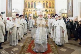 В день памяти первомученика Стефана Патриарший Экзарх совершил Литургию в соборном Петро-Павловском храме города Минска