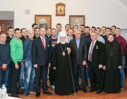 Состоялась встреча митрополита Павла с белорусскими гандболистами