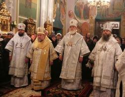 В канун дня памяти мучеников младенцев Вифлеемских Патриарший Экзарх возглавил великую вечерню в Гродненском Рождество-Богородичном женском монастыре