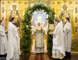 В день отдания праздника Рождества Христова Патриарший Экзарх совершил Литургию в Елисаветинском женском монастыре города Минска