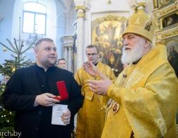 В Неделю перед Богоявлением Патриарший Экзарх совершил Литургию в Свято-Духовом кафедральном соборе города Минска