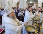 В праздник Крещения Господня митрополит Астанайский Александр совершил Литургию в Вознесенском кафедральном соборе Алма-Аты