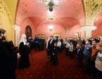 Святейший Патриарх Кирилл встретился с семьями сотрудников силовых структур, погибших при исполнении служебных обязанностей