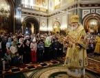 В Неделю о мытаре и фарисее Святейший Патриарх Кирилл совершил Литургию в Храме Христа Спасителя в Москве