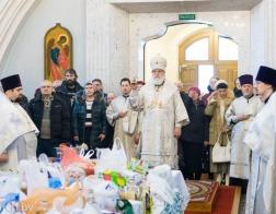 Во Вселенскую родительскую субботу митрополит Павел совершил Литургию в Свято-Духовом кафедральном соборе города Минска