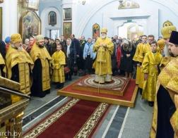 В канун Недели о Страшном суде Патриарший Экзарх совершил всенощное бдение в Свято-Духовом кафедральном соборе города Минска
