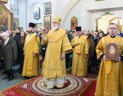 В Неделю о Страшном суде митрополит Павел совершил Литургию в Свято-Духовом кафедральном соборе города Минска