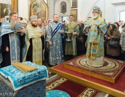 В канун праздника Сретения Господня митрополит Павел совершил всенощное бдение в Свято-Духовом кафедральном соборе города Минска
