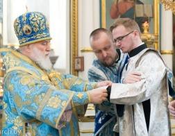 В праздник Сретения Господня митрополит Павел совершил Литургию в Свято-Духовом кафедральном соборе города Минска