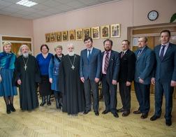 Патриарший Экзарх и ректор Белорусского государственного университета обсудили перспективы развития Института теологии БГУ