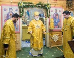 Митрополит Павел совершил Литургию в храме в честь святителя Николая Японского города Минска