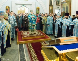 В канун Недели сыропустной митрополит Павел совершил всенощное бдение в Свято-Духовом кафедральном соборе города Минска