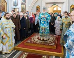 В Неделю сыропустную Патриарший Экзарх совершил Литургию в Свято-Духовом кафедральном соборе города Минска
