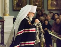 Митрополит Павел возглавил воскресную вечерню с чином прощения в Свято-Духовом кафедральном соборе города Минска