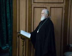 Во вторник первой седмицы Великого поста Патриарший Экзарх молился за утренним уставным богослужением в Свято-Духовом кафедральном соборе города Минска