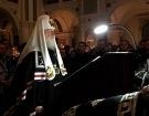 В четверг первой седмицы Великого поста Святейший Патриарх Кирилл совершил повечерие с чтением Великого покаянного канона прп. Андрея Критского в Сретенском монастыре г. Москвы