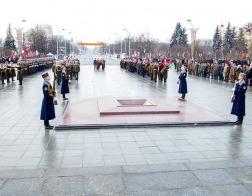 Делегация Белорусской Православной Церкви приняла участие в торжественной церемонии в честь Дня защитников Отечества и 100-летия Вооруженных сил Беларуси