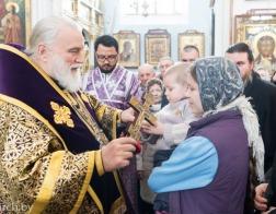 В Неделю 2-ю Великого поста митрополит Павел совершил Литургию в Свято-Духовом кафедральном соборе города Минска