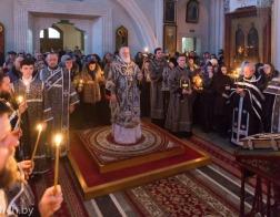 В канун понедельника 3-й седмицы Великого поста митрополит Павел совершил Пассию в Свято-Духовом кафедральном соборе города Минска