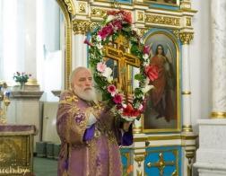 В канун Крестопоклонной Недели Патриарший Экзарх совершил всенощное бдение в Свято-Духовом кафедральном соборе города Минска