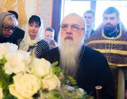 В Неделю преподобной Марии Египетской митрополит Филарет молился за Литургией в домовом храме Минского епархиального управления