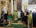 В день памяти св. блгв. кн. Даниила Московского Святейший Патриарх Кирилл совершил Литургию в Даниловом ставропигиальном монастыре