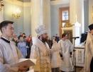 Чин присоединения к Православной Церкви временно отпавших от нее людей совершил митрополит Волоколамский Иларион
