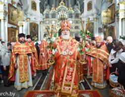 Митрополит Павел возглавил торжественное Пасхальное богослужение в Свято-Духовом кафедральном соборе города Минска